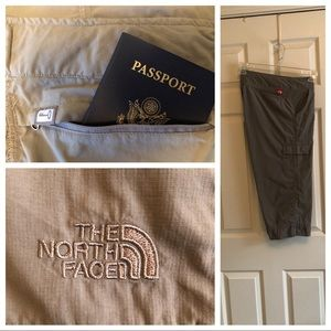 North Face gray hiking capris size 12